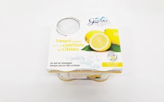 Yaourt sur lit framboises citron x4 (4x125gr)