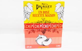 Cubi rosé pêche Bigallet(3l)