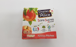 Compote pomme pêches x4 (400gr)