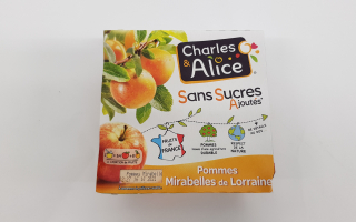 Compote pomme mirabelles x4 (388gr)