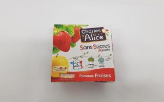 compote pomme fraise x4 (400gr)