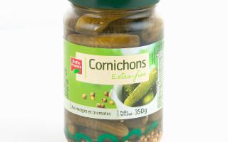 cornichons extra fins 370ml