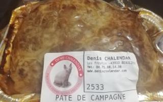 PATE DE CAMPAGNE BARQUETTE