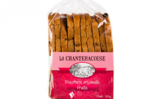 biscottes traditions chanteracoise aux fruits secs (300gr)