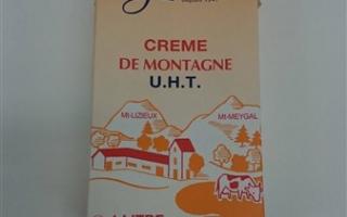 Crème 35% MG Gérentes la brique de 1L