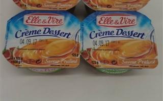 Crème dessert praliné (4x125gr)
