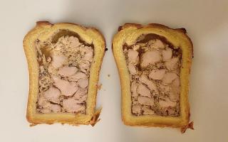 Pâté Croûte poulet/moutarde 2 tranches x 300gr