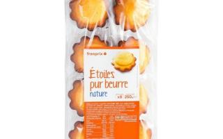Etoiles pur beurre  (250gr)