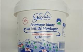 fromage blanc 20% MG gérentes (sceau de 1 kg)