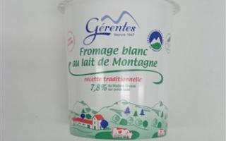 Fromage blanc 40% MG gérentes (pot de 500 gr)