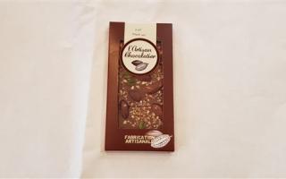 chocolat noir et fruits secs l'artisan chocolatier (100gr)