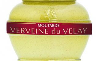 Moutarde à la verveine (200ml)