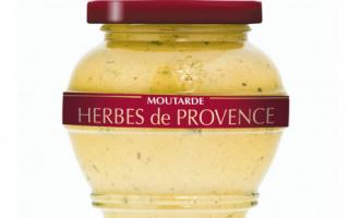 Moutarde aux herbes de provence  (200ml)