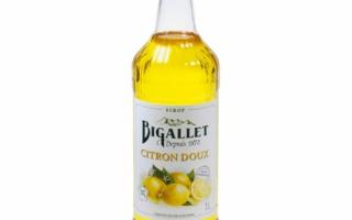 Sirop citron doux bigallet 1l
