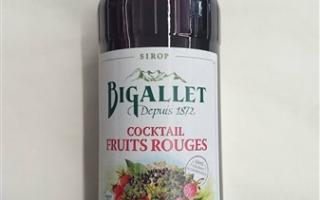 Sirop cocktail de fruit rouge bigallet 1l