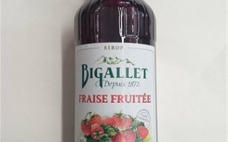 Sirop fraise fruitée bigallet 1l