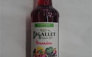 sirop grenadine bio bigallet 75cl