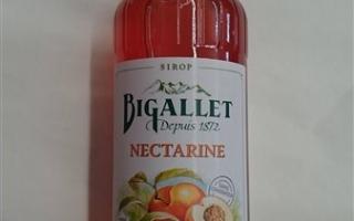 Sirop néctarine bigallet 1l