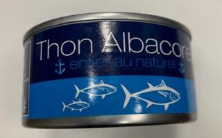 thon albacore 185gr net / 140 gr égoutté