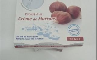 Yaourt sur lit marrons gérentes (4x125gr)