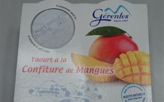 Yaourt sur lit mangue gérentes (4x125gr)