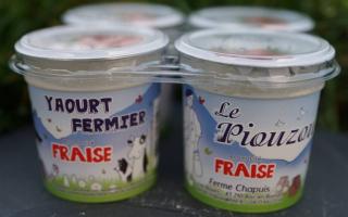 Yaourt piouzou aromatisé fraise x4