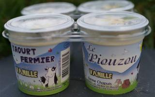 Yaourt piouzou aromatisé vanille x4